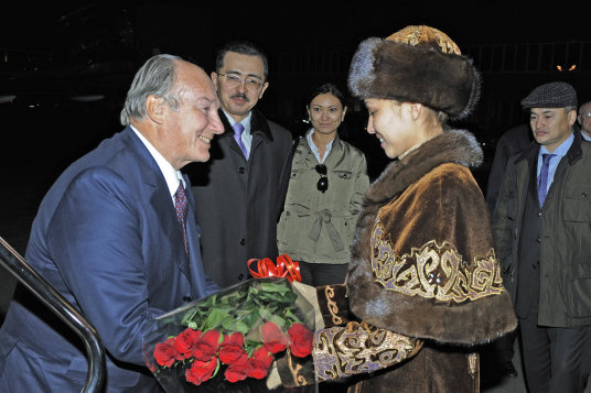 Prince Aga Khan arrives in Kazakhstan