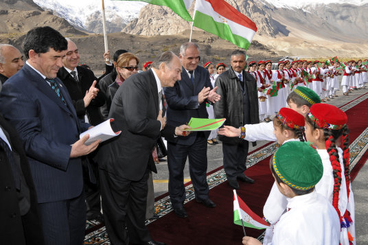 Prince Karim Aga Khan IV arrives in Taldykorgan