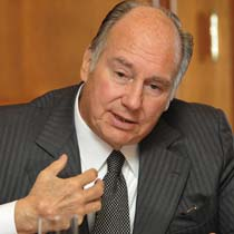 Aga Khan, the hereditary leader of the world's 15 million Shia Ismaili Muslims pictured during an interview in Toronto.