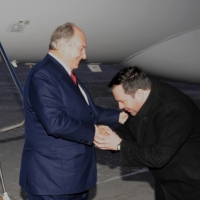 Minister Jason Kenney receives Mawlana Hazar Imam and Noorani Family at Ottawa Airport, Friday December 5th 2008