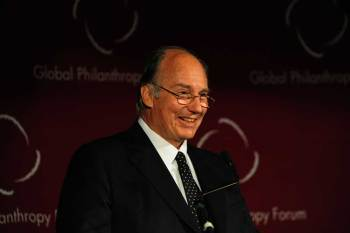 His Highness the Aga Khan speaking to the Global Philanthropy Forum.