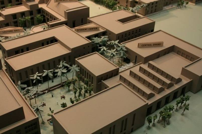 Architectural Model of the Aga Khan University Faculty of Arts and