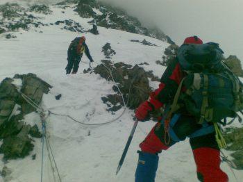 Ali Musa climbing K-2 camp 2