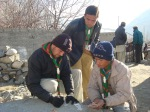 Ismaili Boy Scouts  on relief operation duty