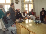President IRC HUnza briefing Marvi Mamon, member NAtional Assembly
