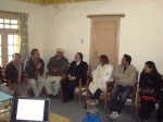 President Ismaili National Council getting briefing in Altit camp