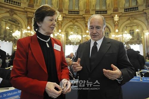 His Highness the Aga Khan at Global Zero Summit in Paris Feb 2 2010 2 Photo EPA YOAN VALAT