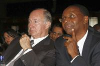 His Highness The Aga Khan and Nation Media Group chairman Wilfred Kiboro
