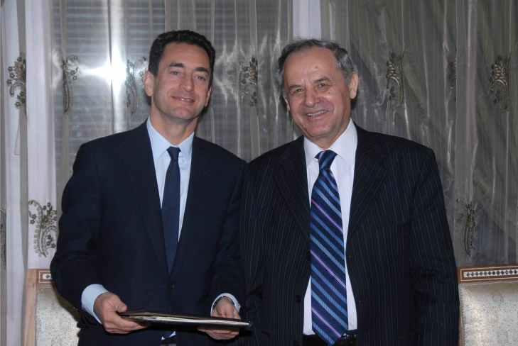 From Ismailimail Archives: Damascus, Syria, 26 October 2010: His Excellency Mr. Eric Chevallier, France's Ambassador to Syria and His Excellency Mr. Mohamed Seifo, AKDN's Resident Representative in Syria at the signing of the Partnership Convention between AKDN and the French Government.