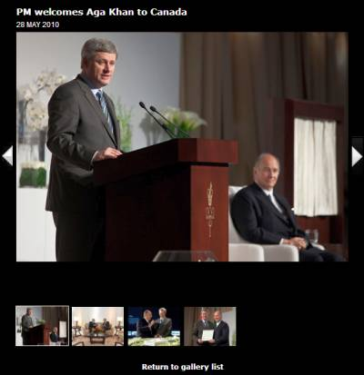 Pictures: PM of Canada welcomes Aga Khan