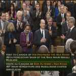 His Highness the Aga Khan's Address to joint session of Parliament in Canada
