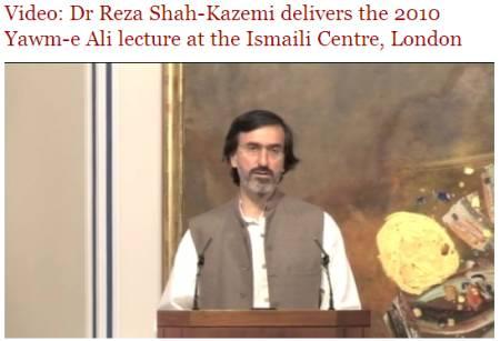 The Ismaili Video: Dr Reza Shah-Kazemi delivers the Yawm-e Ali lecture at the Ismaili Centre, London