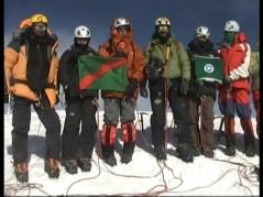 on the summit of Mingiligh sar the female climbers along with Qudrat Ali