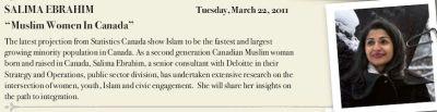 Salima Ebrahim addresses North Bay Canadian Club on Muslim Women in Canada