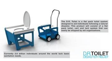 D.R. Toilet System – Disaster Relief Toilet by Rahim Bhimani, Industrial Designer