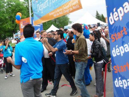 MP's Thomas Mulcar and Justin Trudeau participated in the Montrel Walk. (Sultan Jessa0Photo)