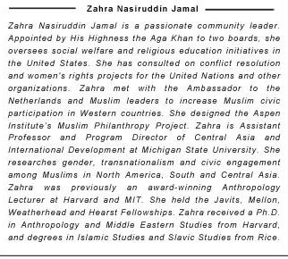 Zahra Nasiruddin Jamal: I Speak For Myself