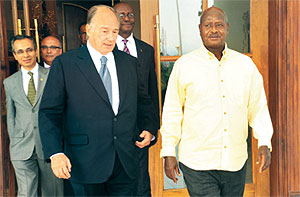 New Vision Uganda: President receives The Aga Khan