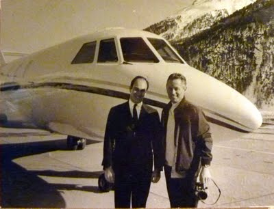 Unpublished photographs of the Aga Khan at the Chalet Hotel Senger ...