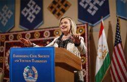 Secretary of State Hillary Rodham Clinton at Ismaili Center Dushanbe for Town Hall with Women, Youth, and Civil Society