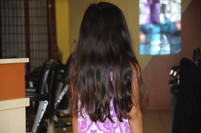 Волосы назад фото девушки