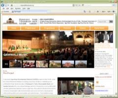 Website for Nizamuddin Basti Renewal Project India