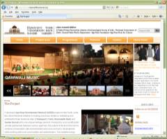 Website for Nizamuddin Basti Renewal Project India