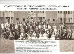 Constitutional Review Committee, Group Photo 1961 - by Ameer Janmohamed