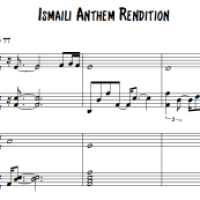 Ismaili Anthem - Rendition By Mehboob Thawer - with Music Sheet