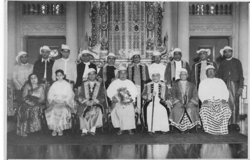 Burma Jamat with the Prime Minister in 1960 - Photograph Nazir Alimohammad and family, Burma