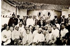 Mawlana Hazar Imam with the Burmese Jamat, Photograph Nazir Alimohammad and family, 1960 Burma