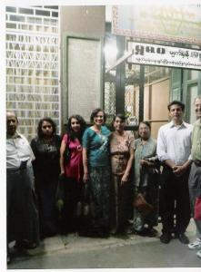 Recent picture of the family outside of Yangon Jamatkhana - Photograph Nazir Alimohammad and family, Burma