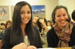 Coquitlam students Selin Jessa and Zoya Jiwa introduce school board to TED