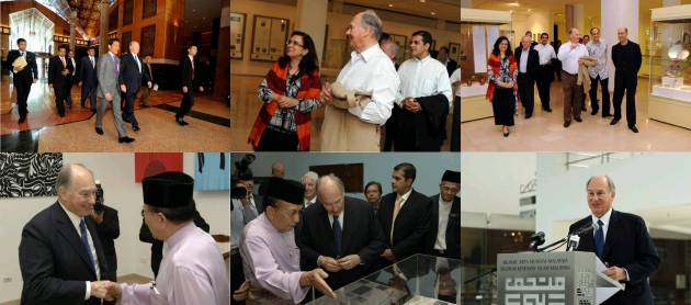 """Photo Gallery: His Highness the Aga Khan inaugurates """"Treasures of the Aga Khan Museum"""" exhibition in Malaysia"""
