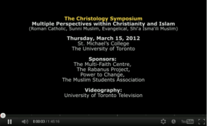 Video: Khalil Andani presents Isma'ili Muslim perspectives on Jesus at the Christology Symposium