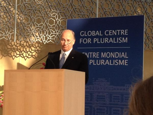 His Highness Aga Khan introduces R. Otunbayeva at the Global Centre for Pluralism