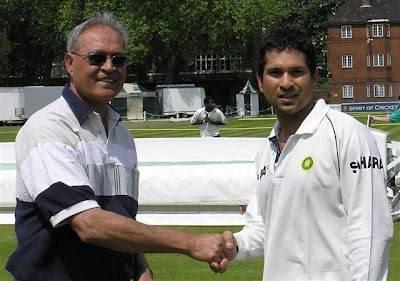 Bahadur Bandali Kassam meets Sachin Tendulkar