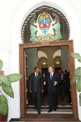 July 18 2012 - President of Tanzania with His Highness the Aga Khan