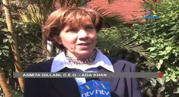 Asmita Gillani, CEO Aga Khan University Hospital, receives Tanzanian President for the tour of the Aga Khan Heart and Cancer Unit Nairobi