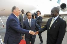 The Ismaili: Mawlana Hazar Imam arrives for opening of Bujagali Hydropower and to mark 50 years of Uganda's independence