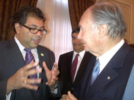 With His Highness Prince Karim Aga Khan