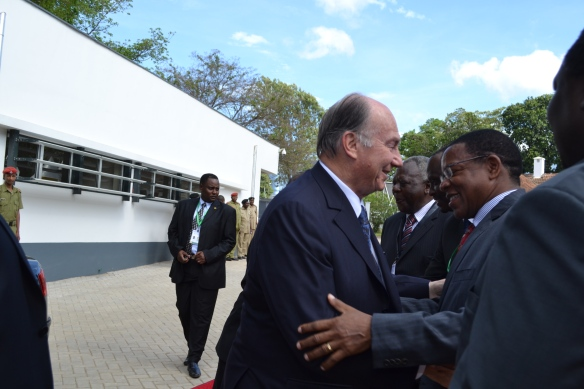 His Highness the Aga Khan in Arusha for opening of EAC headquarters