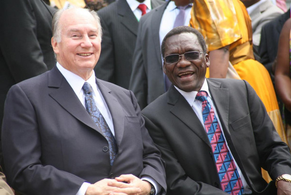Mizengo Pinda with the Aga Khan