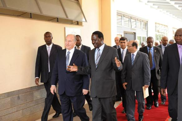 Raila Odinga with HH The Aga Khan