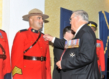 Staff Sergeant Rizwan Suleman receives Queen's Diamond Jubilee Commemorative Medal