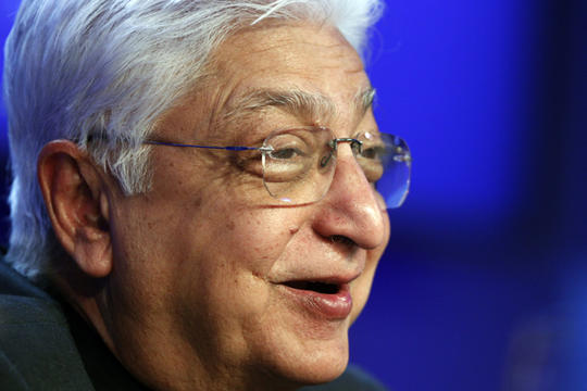 Wipro Chairman Azim Premji <br>Giving back: Eight innovative philanthropists around the world - <br>(Image: Christian Science Monitor)