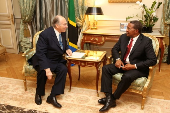 President Kikwete of Tanzania with His Highness the Aga Khan