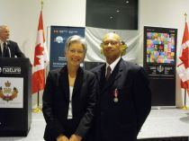 Amyn Keshavjee With Liseanne Forand President of Shared Services Canada