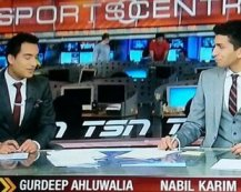 Gurdeep Ahluwalia and Nabil Karim hosted Sportscentre