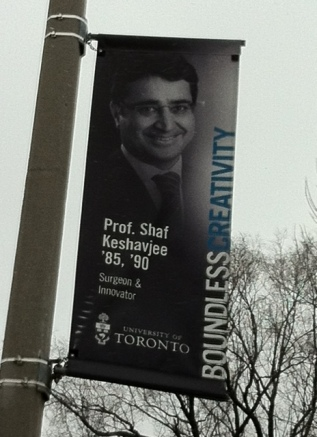 World renowned lung transplant innovator Dr. Shaf Keshavjee honoured by University of Toronto's Boundless Campaign